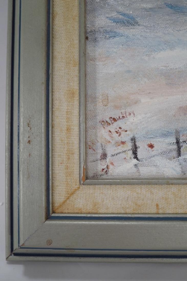 "P. Buckley, ""Deep Freeze"", O/C, Signed. - 4"