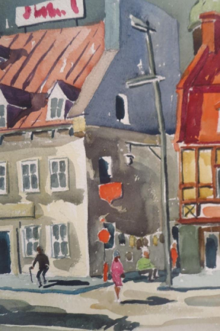 Labelle, French Street Scene, WC/P. Signed. - 2