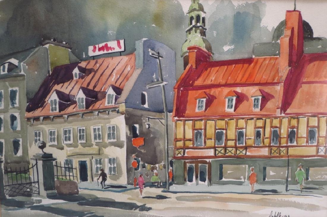 Labelle, French Street Scene, WC/P. Signed. - 4