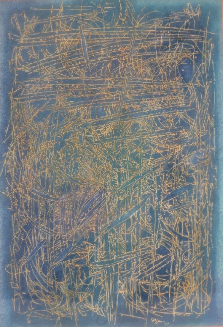 C. Seliger, Wild Grass, Ink on Paper, 1960