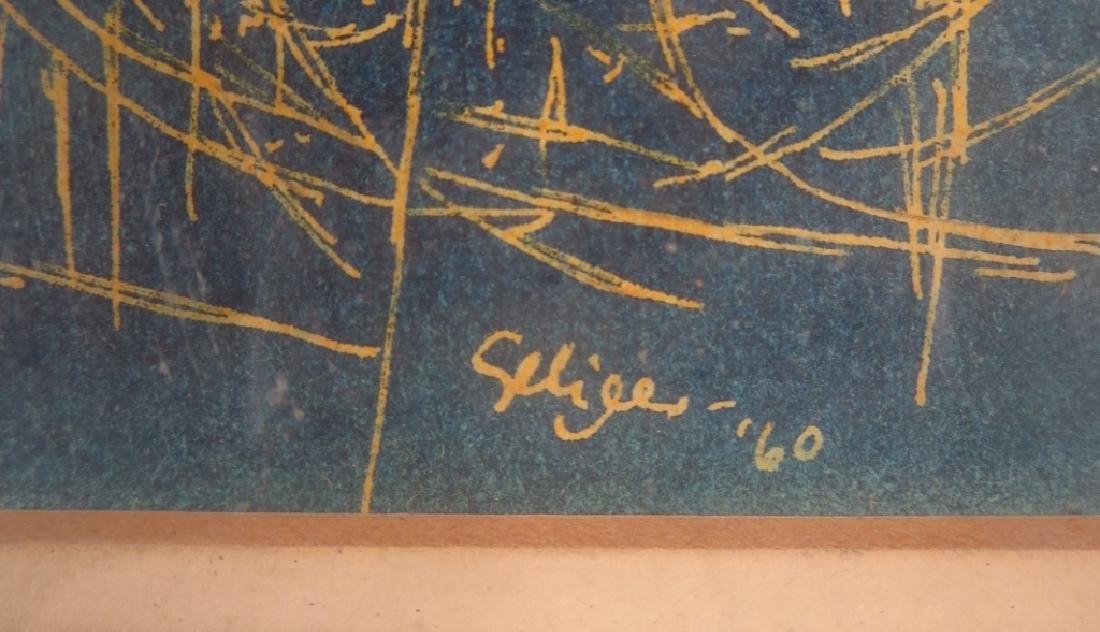 C. Seliger, Wild Grass, Ink on Paper, 1960 - 3