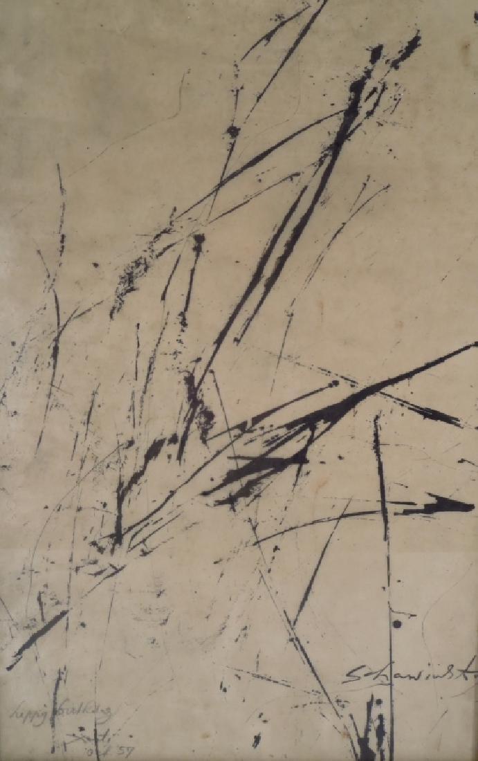 Alex (Xanti) Schawinsky b.1904 Abstract Ink/Paper