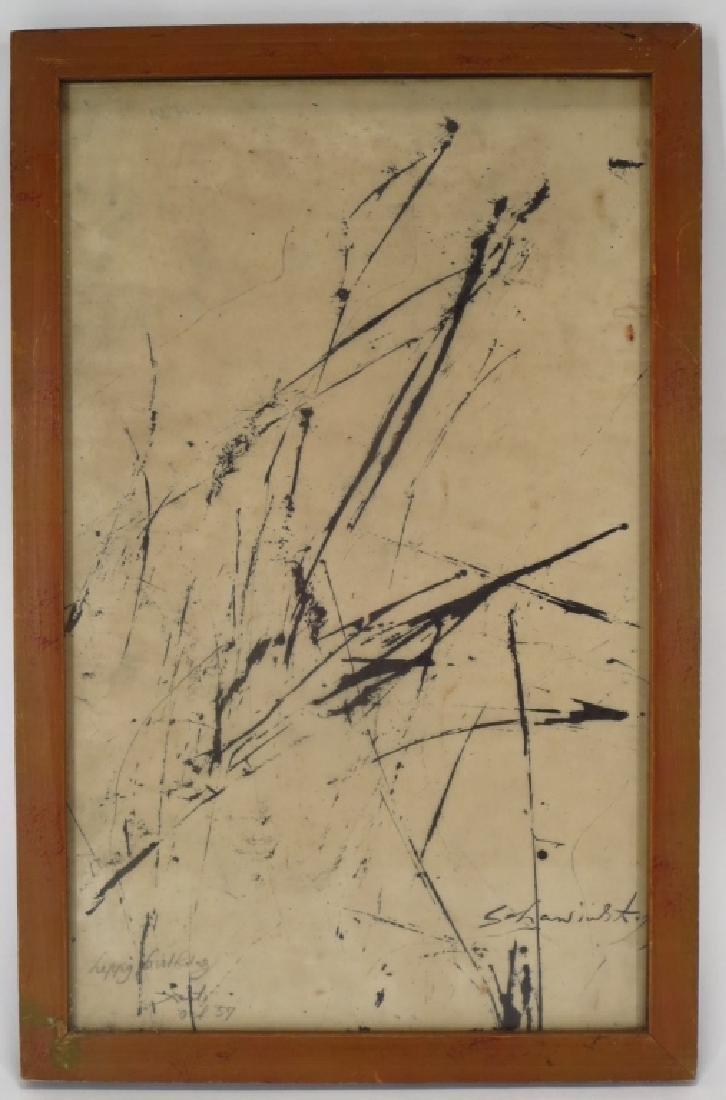 Alex (Xanti) Schawinsky b.1904 Abstract Ink/Paper - 2