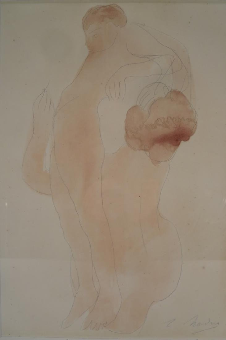 "Auguste Rodin (French 1840-1917) ""Nudes"" wc/p"