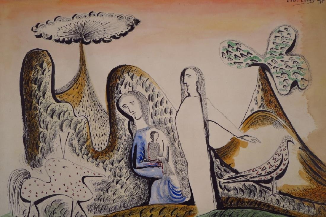 Cecil Collins,Br.,The Holy Family Resting, w/c