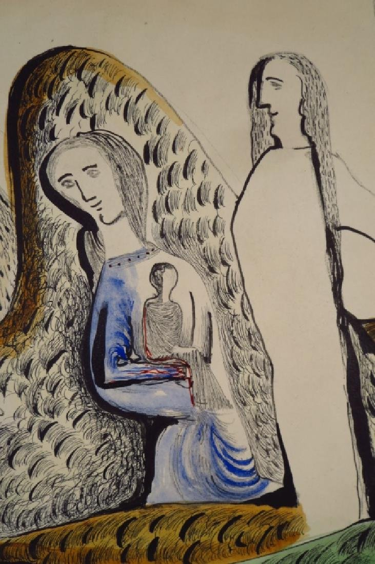 Cecil Collins,Br.,The Holy Family Resting, w/c - 3