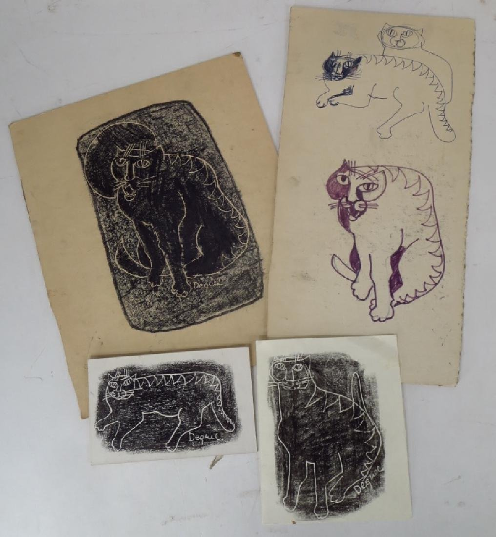 Oreste Dequel, 1923-1989, 8 Art Works - 2