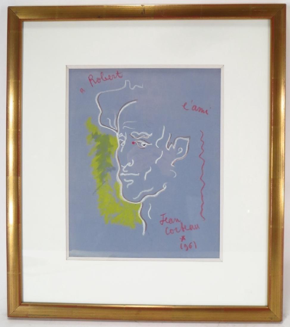 Jean Cocteau FR 1889-1963 A L'Ami Robert Pastel