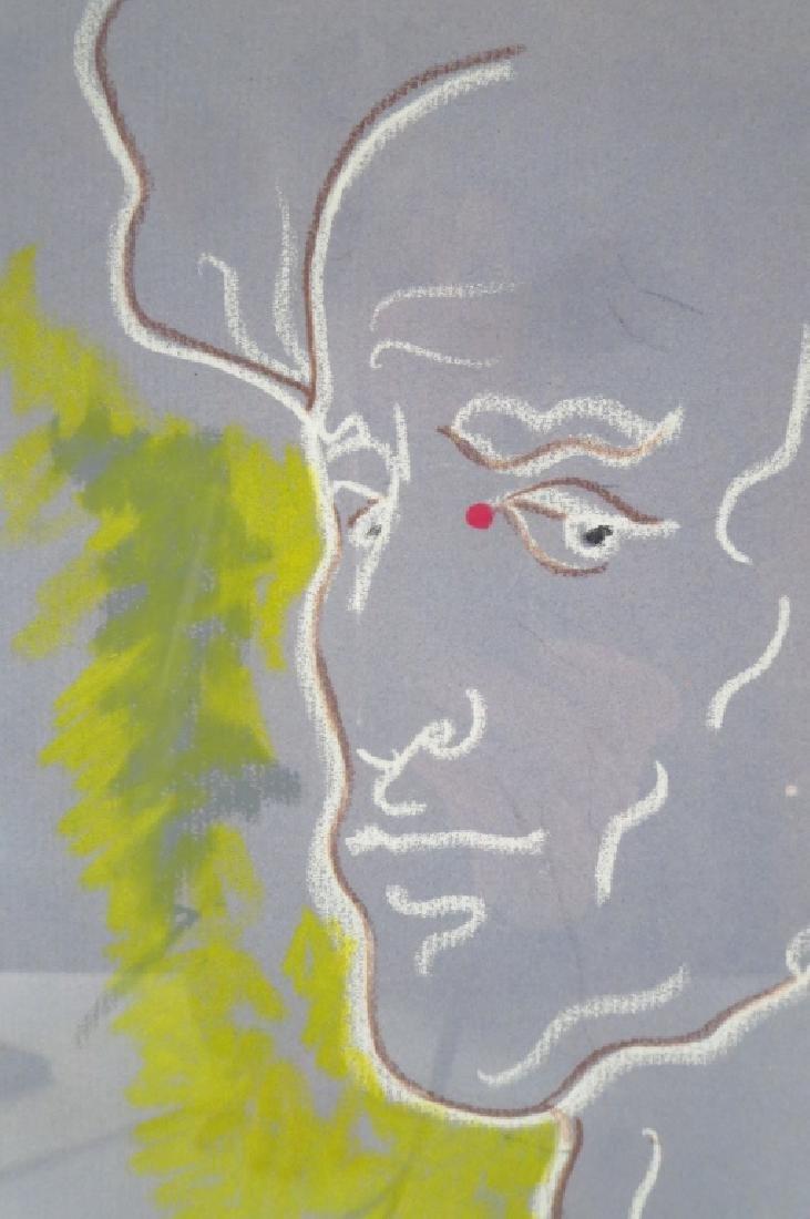 Jean Cocteau FR 1889-1963 A L'Ami Robert Pastel - 2