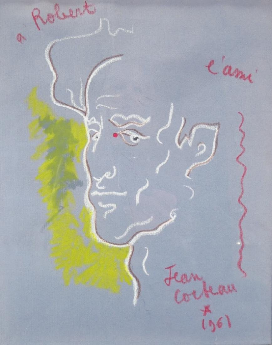 Jean Cocteau FR 1889-1963 A L'Ami Robert Pastel - 4