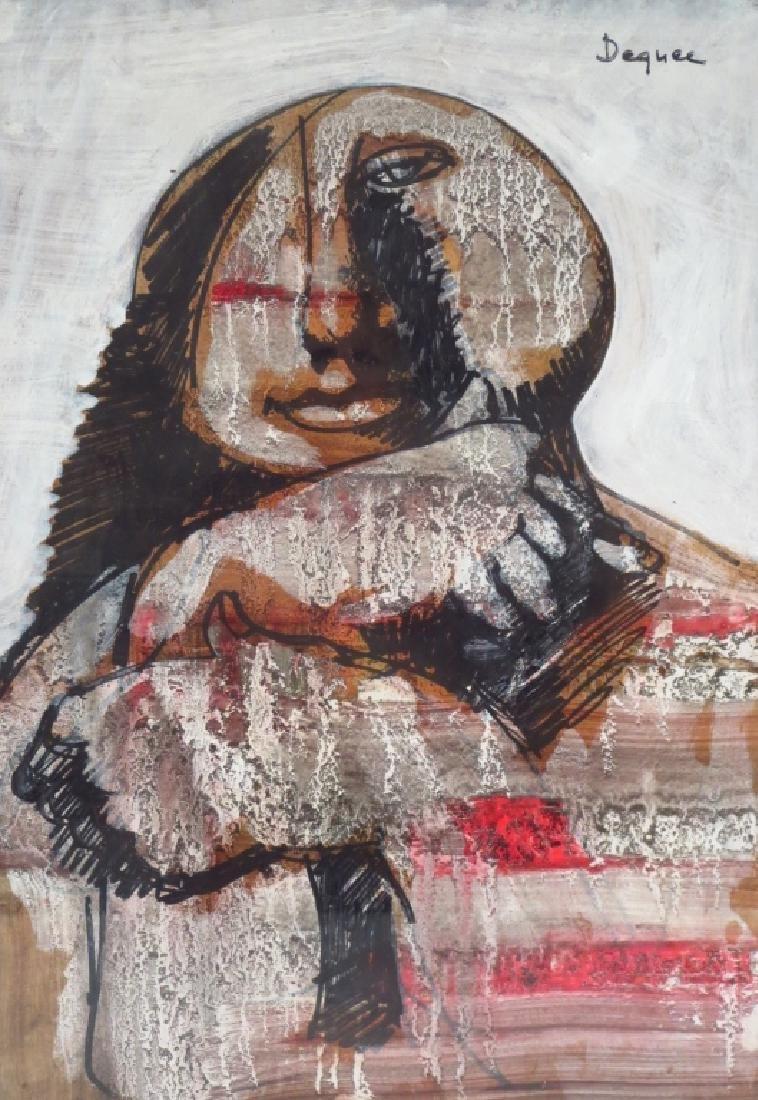Oreste Dequel, 1923-1989, 2 Works of Women