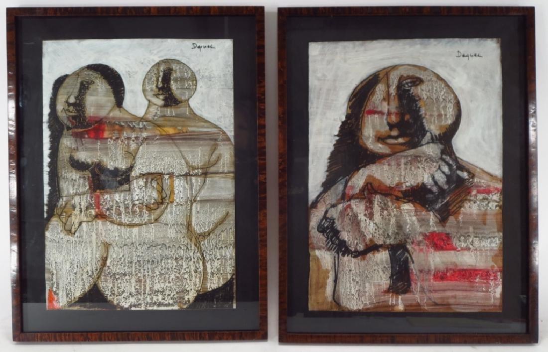 Oreste Dequel, 1923-1989, 2 Works of Women - 2
