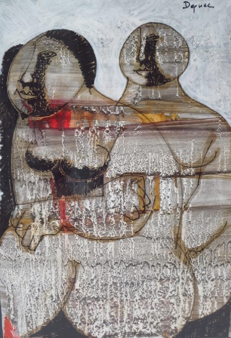 Oreste Dequel, 1923-1989, 2 Works of Women - 3
