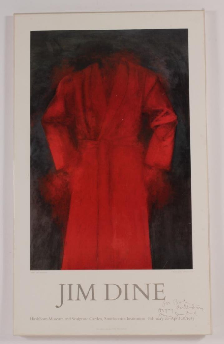Jim Dine AM b.1935 Exhibition Poster Cardinal 1985 - 2