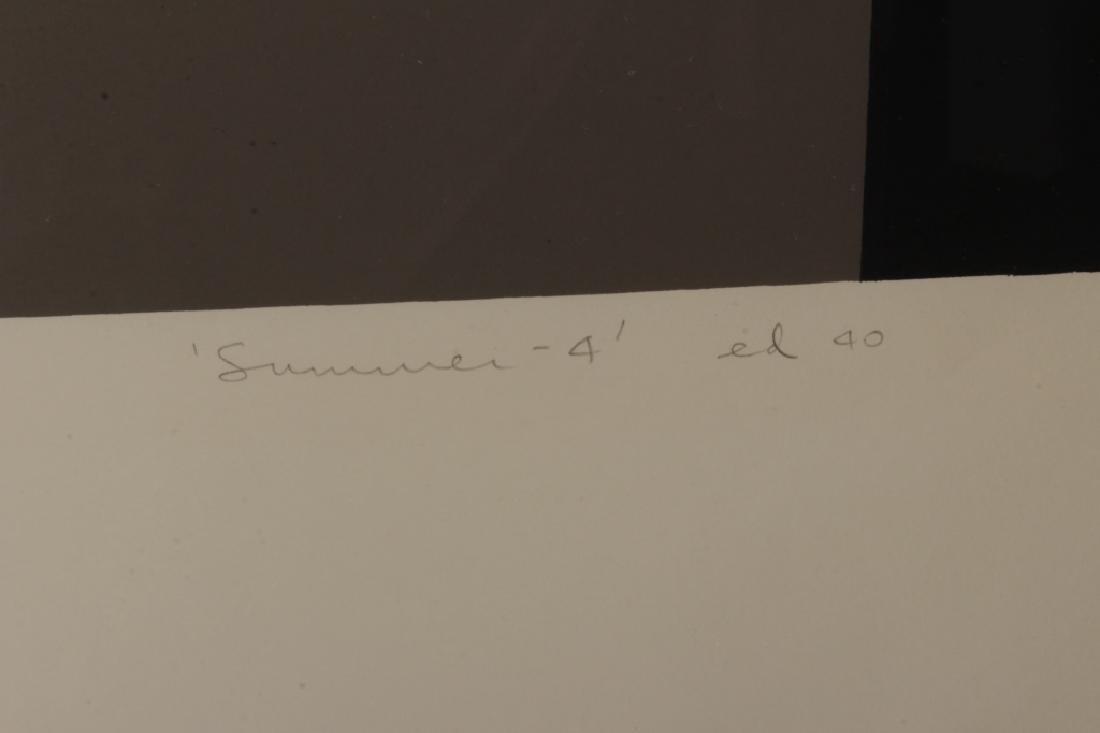"""Harold Krisel,Am.,""""Summer-4"""",serigraph,signed - 3"""