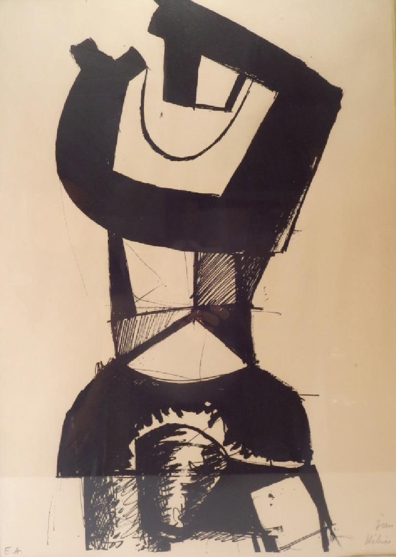 """Jean Helion, Fr.,1904-1987,""""Figure Dressée""""  Litho"""