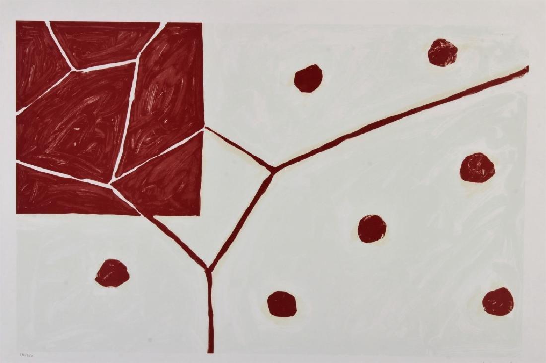 """Mary Heilmann, Am., b 1940, """"Earth & Air"""", Litho"""