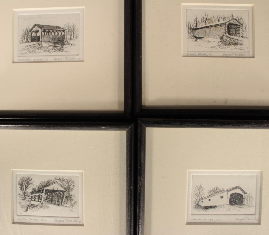 M. Philbrick, 15 Etching, Covered Bridges, Signed - 5