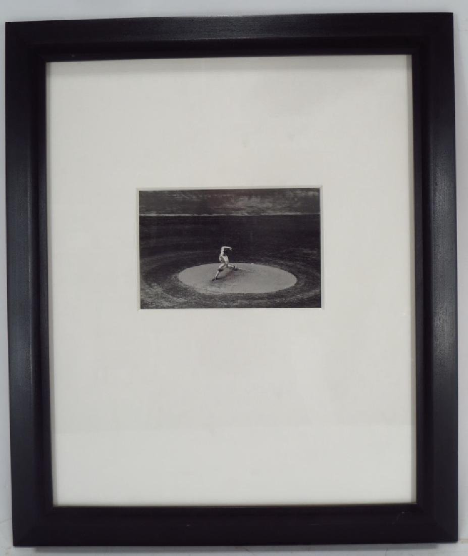 Black & White Photograph Baseball Pitcher 20th c.