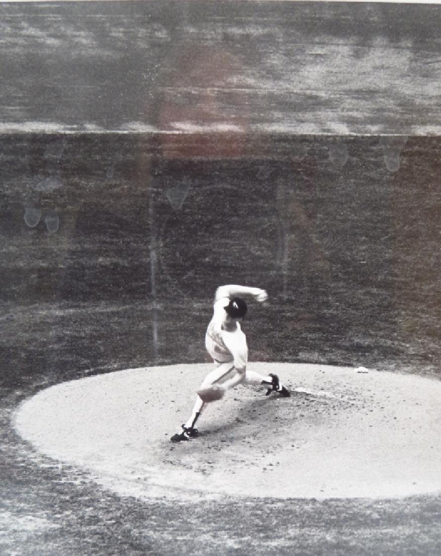 Black & White Photograph Baseball Pitcher 20th c. - 2