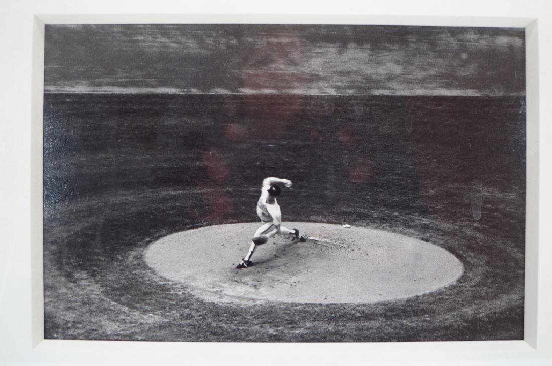 Black & White Photograph Baseball Pitcher 20th c. - 3
