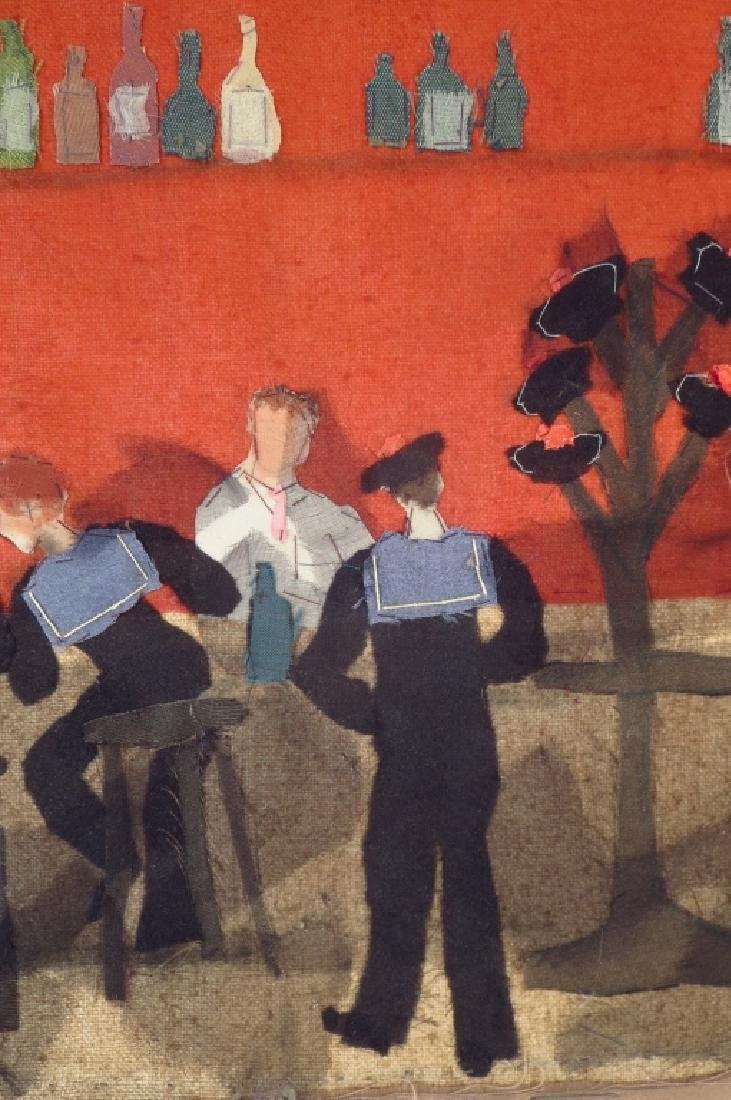 """Beldy Fabric Collage """"Le Neant"""", Sailors 20th c. - 3"""