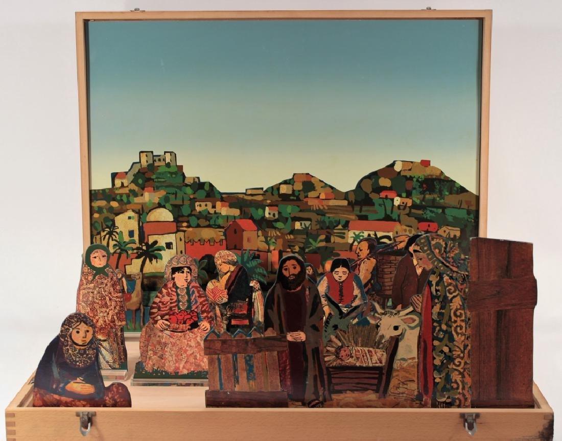 Francesco Tabusso, 20th C., Nativity Scene