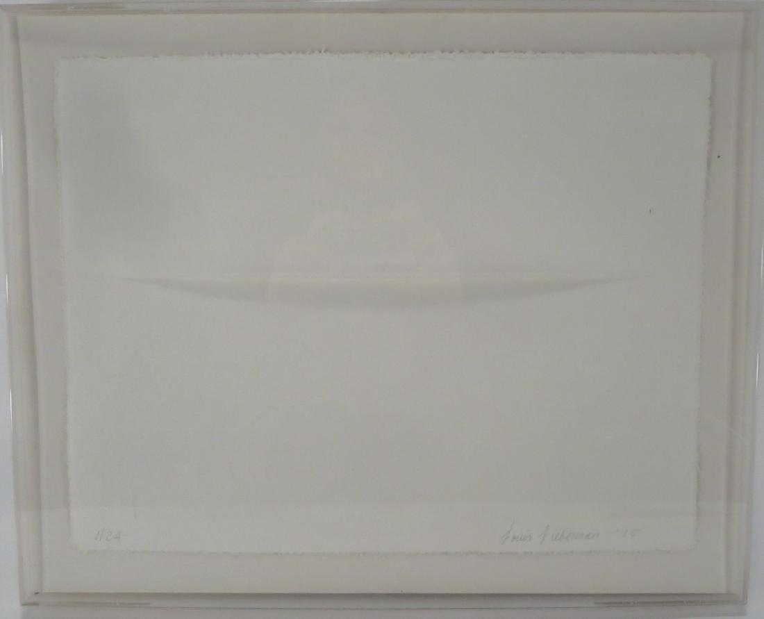 Louis Lieberman,20th C.,Horizon Line,paper relief