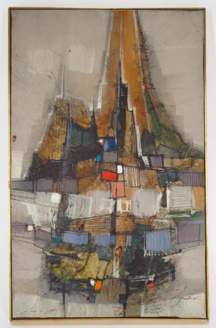 Max Gunther, Swiss, 1934-1974, Cityscape, O/C - 2