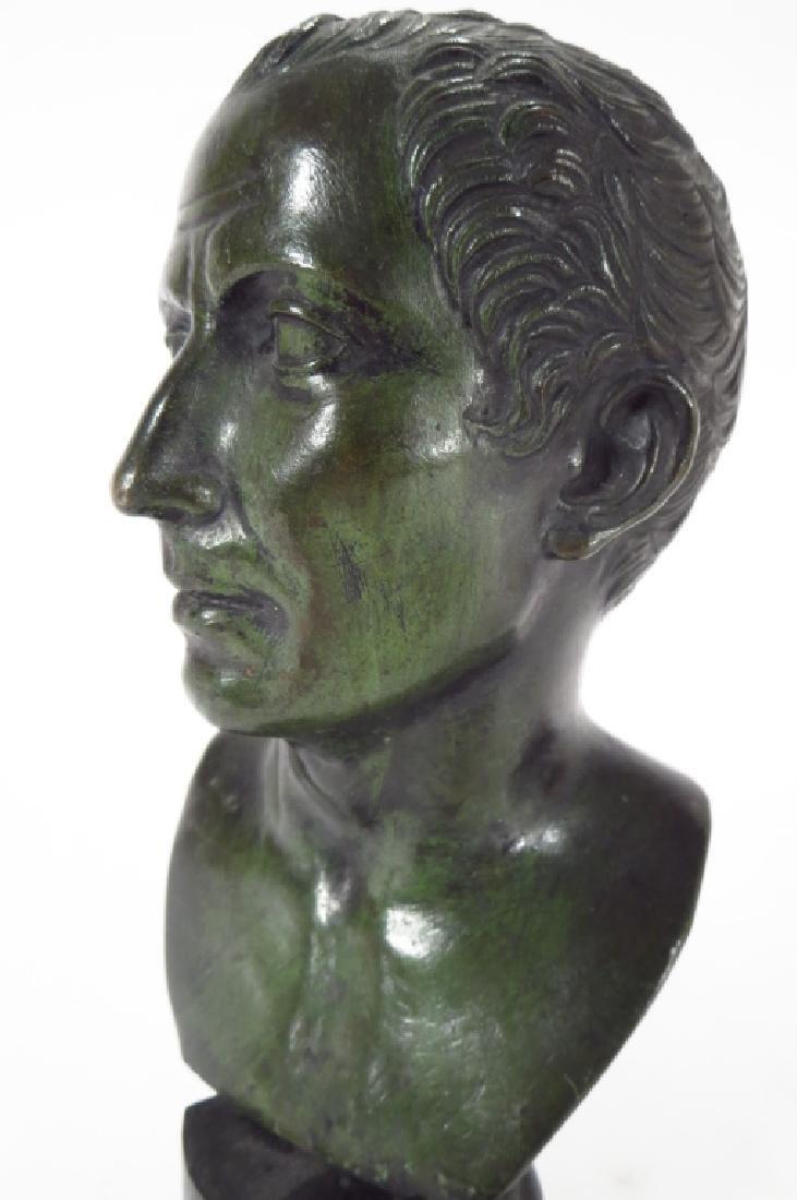 Austrian bronze frog with bronze bust - 2