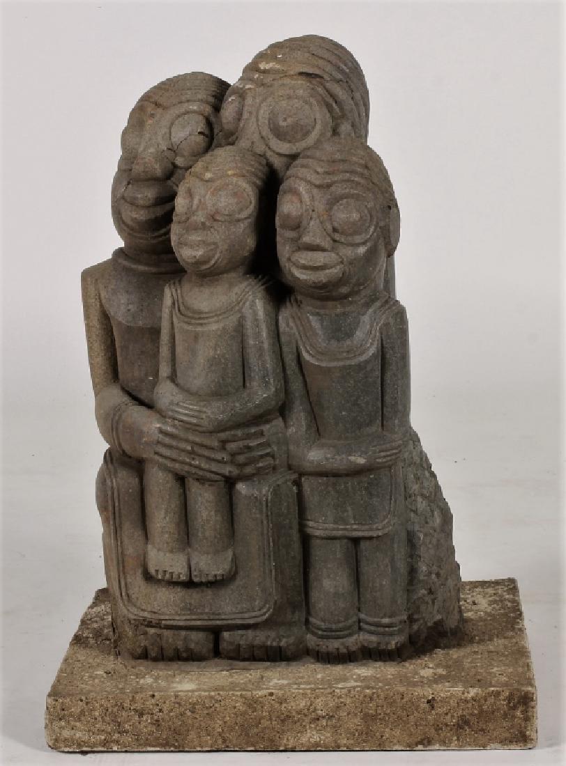 "Shona Tribe Stone Sculpture, Zimbabwe, ""Lovers""."