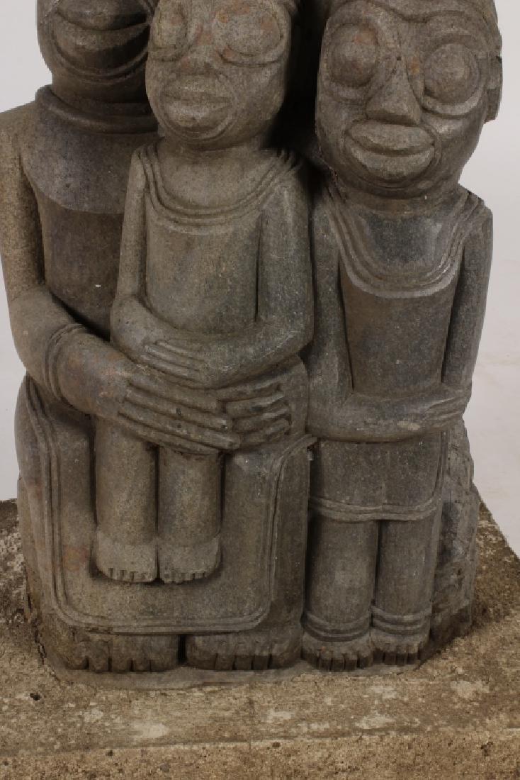 "Shona Tribe Stone Sculpture, Zimbabwe, ""Lovers"". - 3"