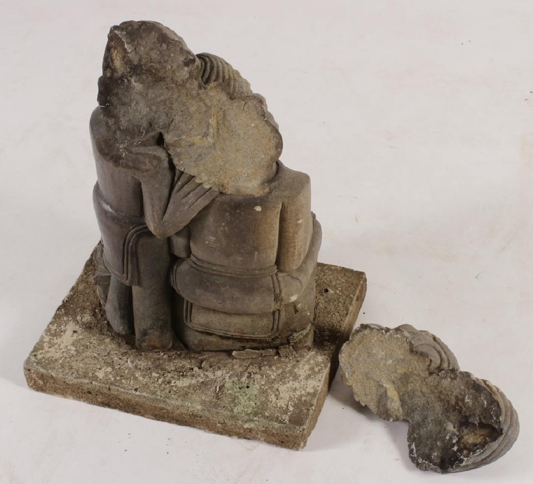 "Shona Tribe Stone Sculpture, Zimbabwe, ""Lovers"". - 5"