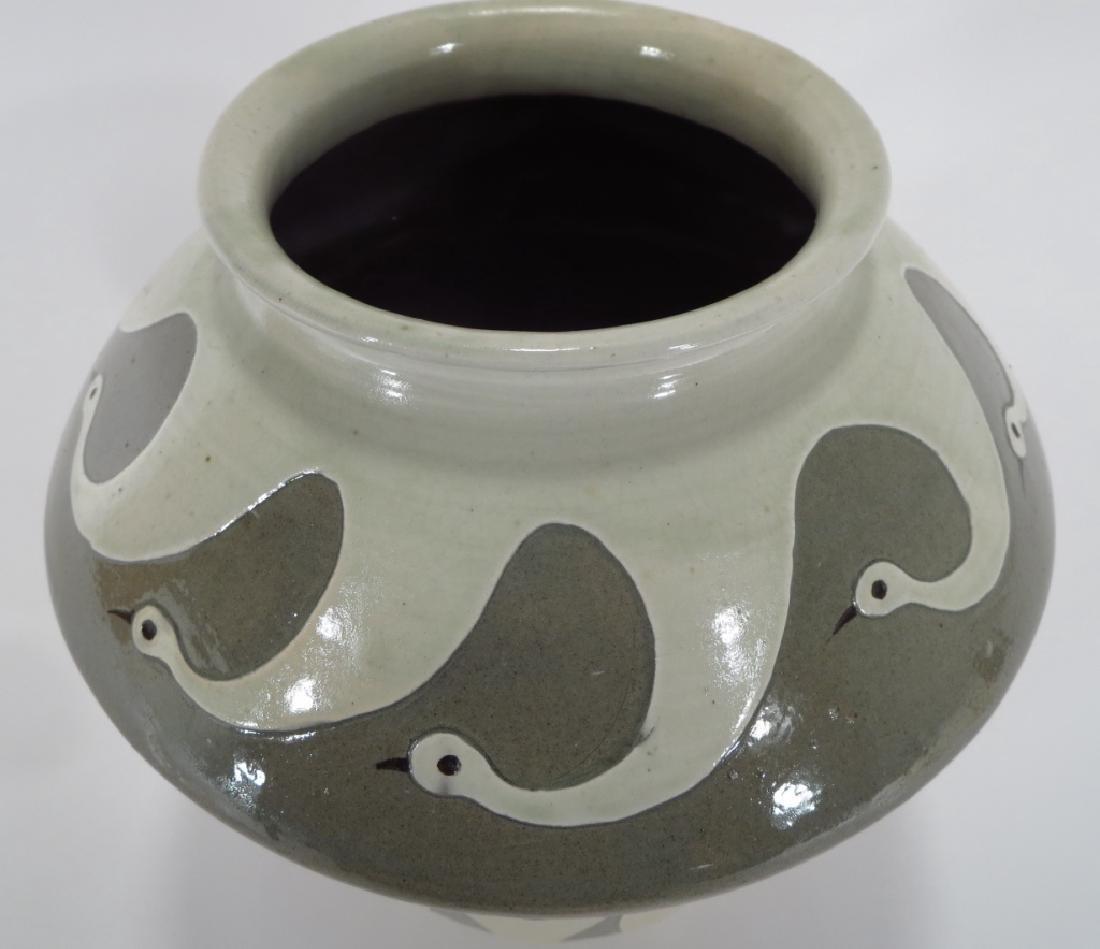 Shin Sang Ho, Korean,Fish and Swan Vase - 2