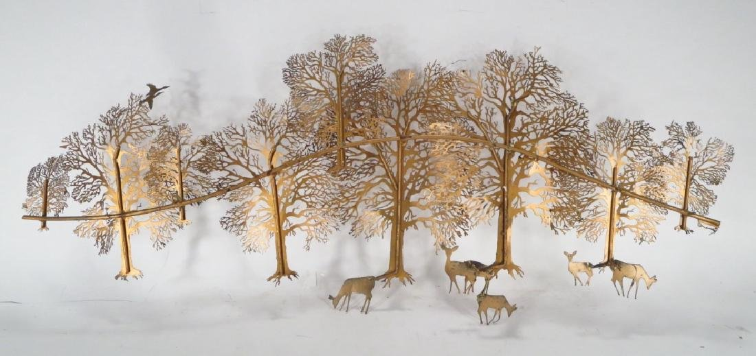 Midcentury Sculpture, Trees and Deer, signed Bjorn - 3