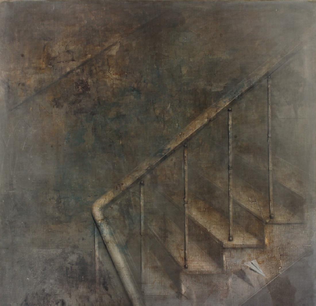 Yuri Kuper BR b.1940 Staircase O/C 1978-79