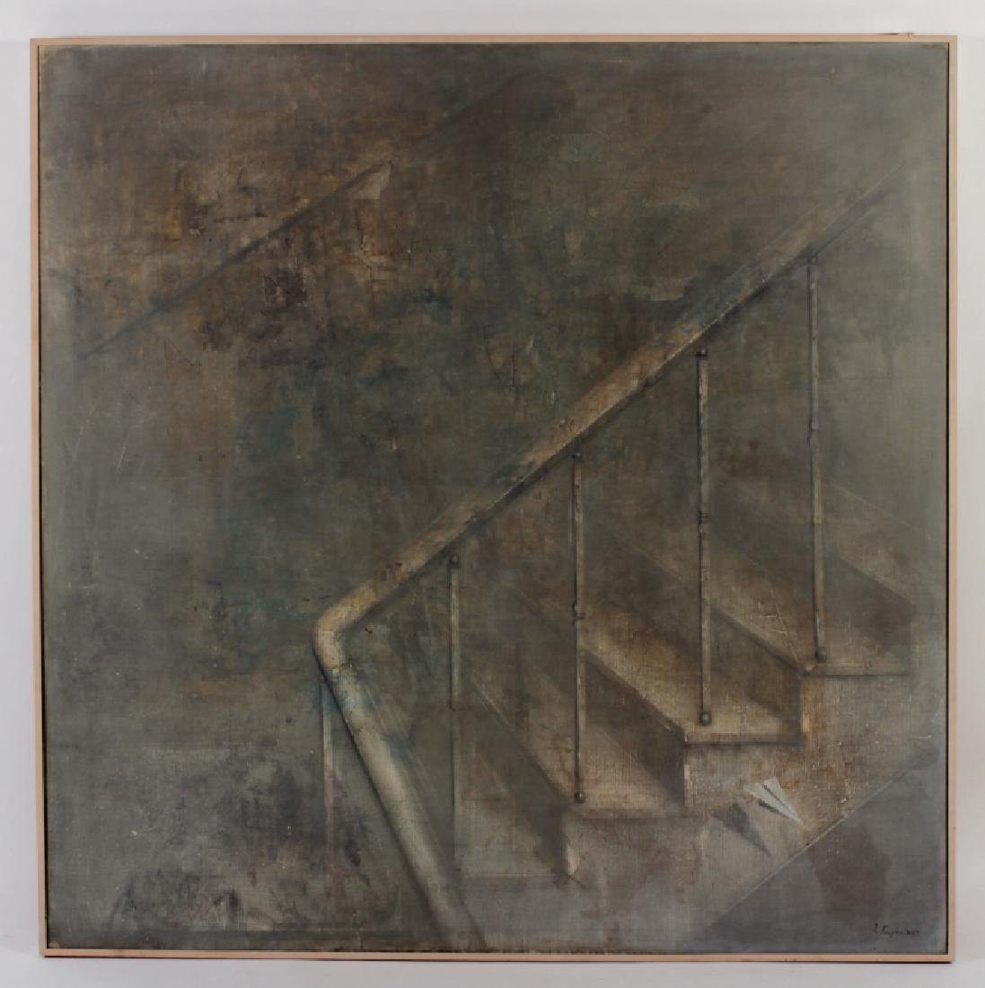 Yuri Kuper BR b.1940 Staircase O/C 1978-79 - 2