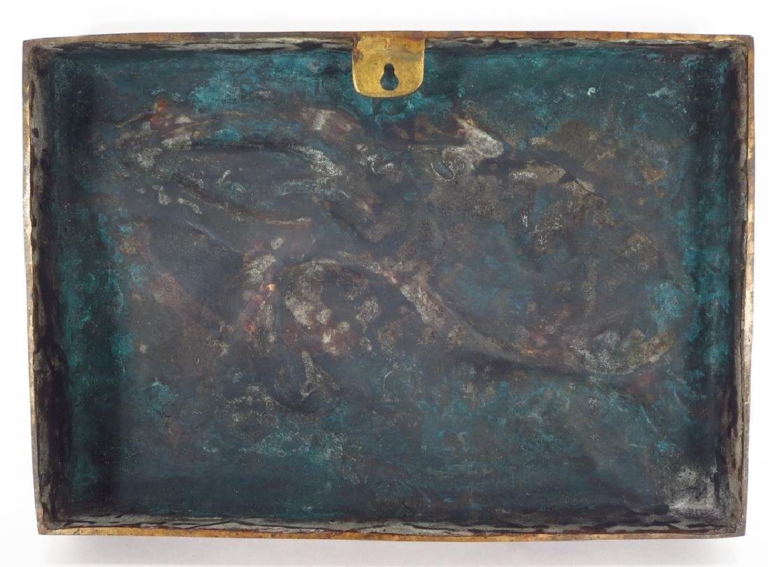 Susan Smyly, Am.,20th C.,Hare,bronze bas relief - 2