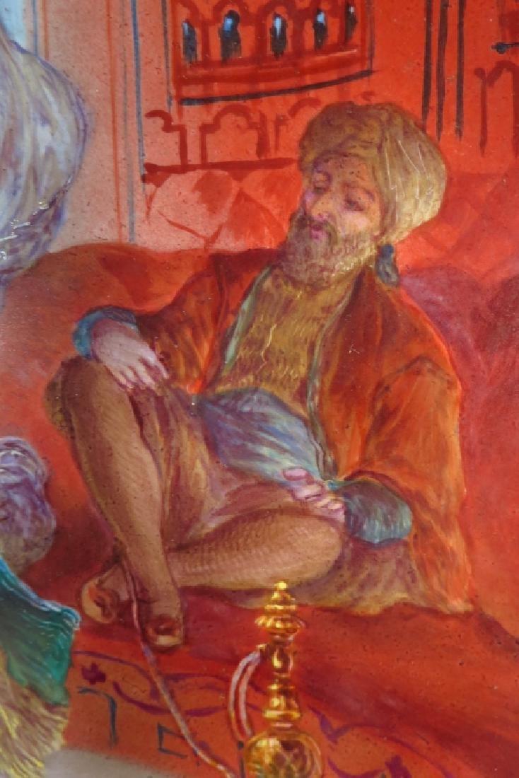 Orientalist Painting on Ceramic,20th C.,signed - 3