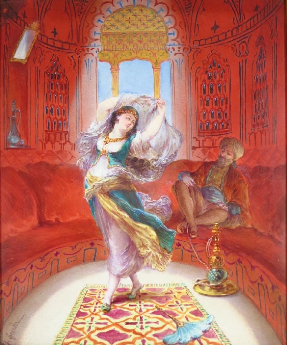 Orientalist Painting on Ceramic,20th C.,signed - 6