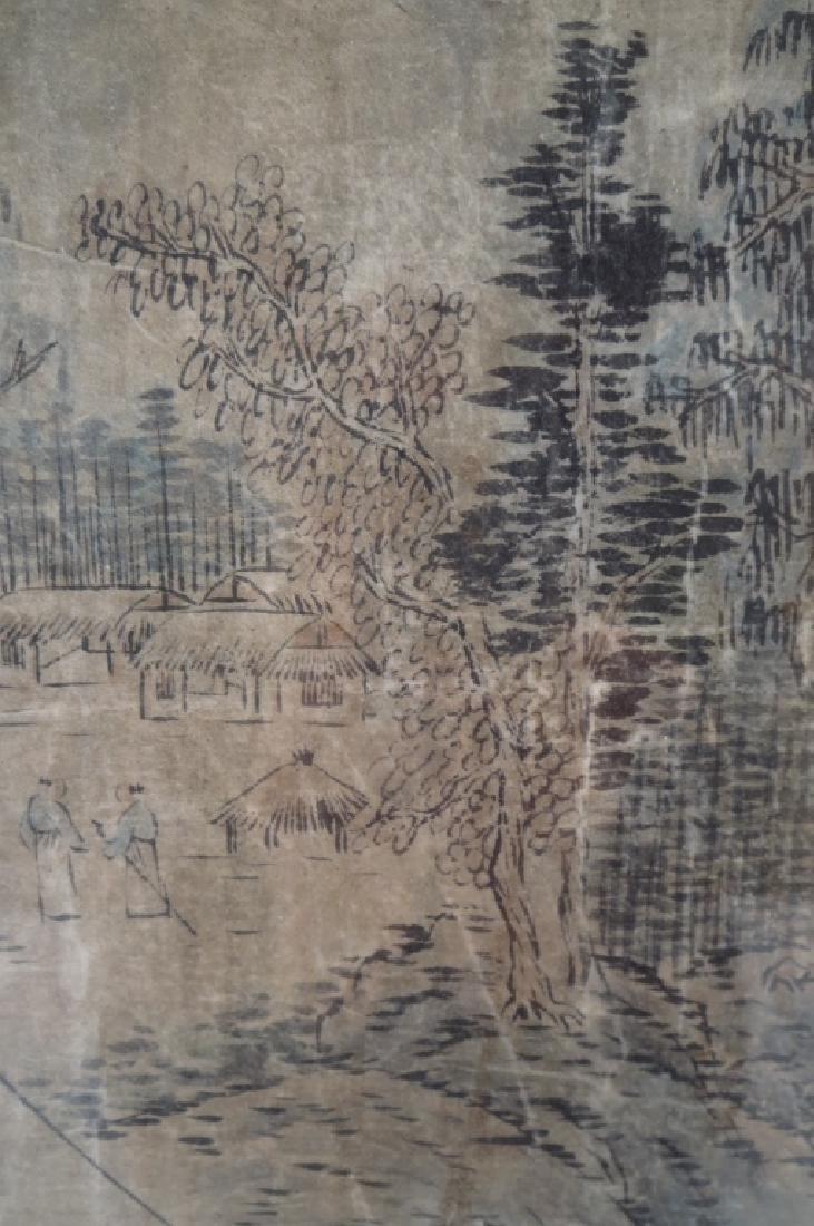 Yi In-mun,Korean,Scholars Conversing,ink on paper - 2