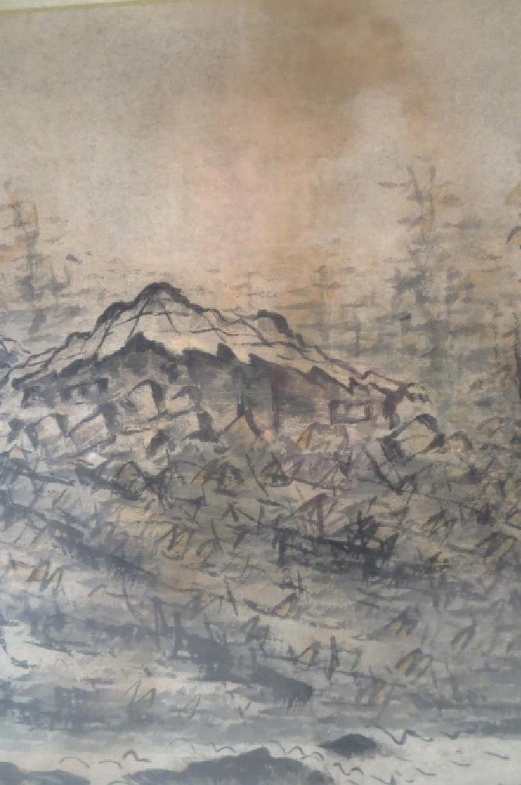 Yi Sang-Bom,Kor.,Landscape,ink on paper,sealed - 3