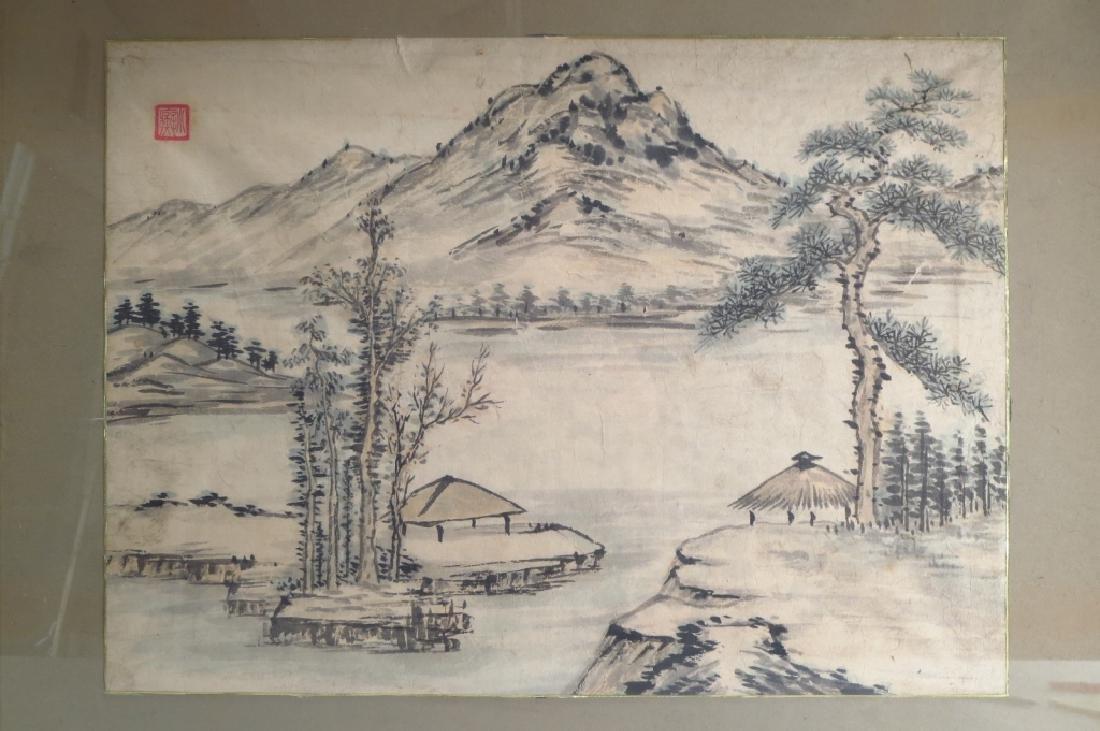 Hur So-Chi,Kor.,2 Landscapes,ink on paper,sealed - 3