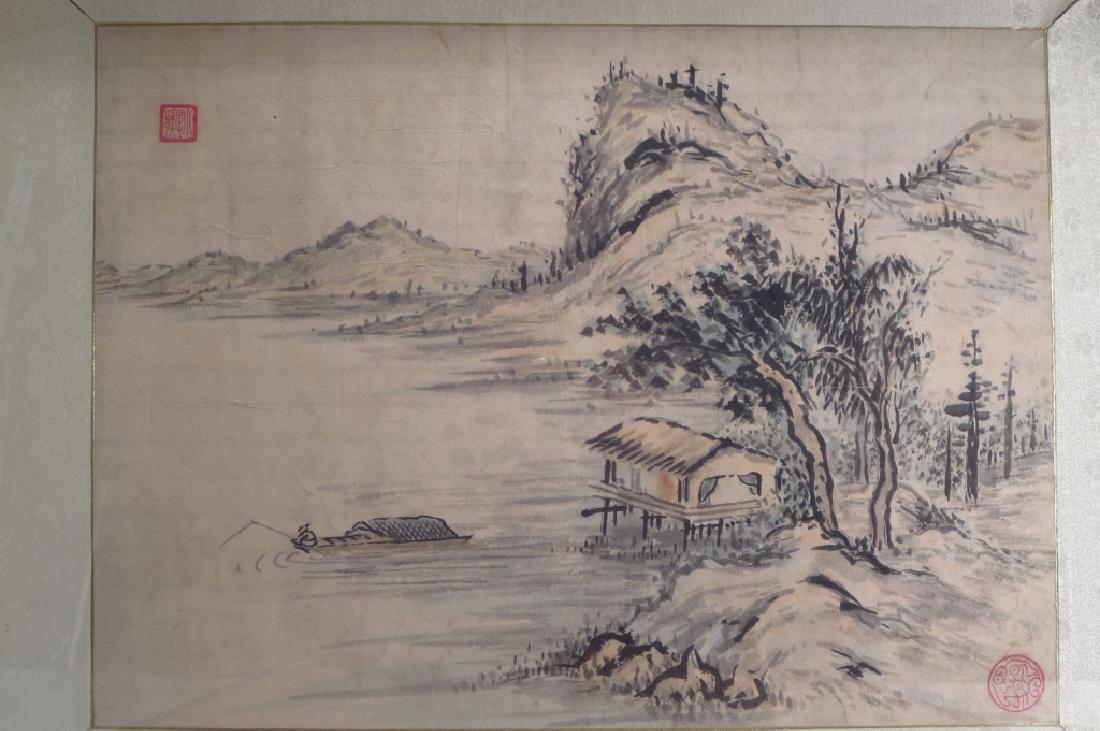 Hur So-Chi,Kor.,2 Landscapes,ink on paper,sealed - 4