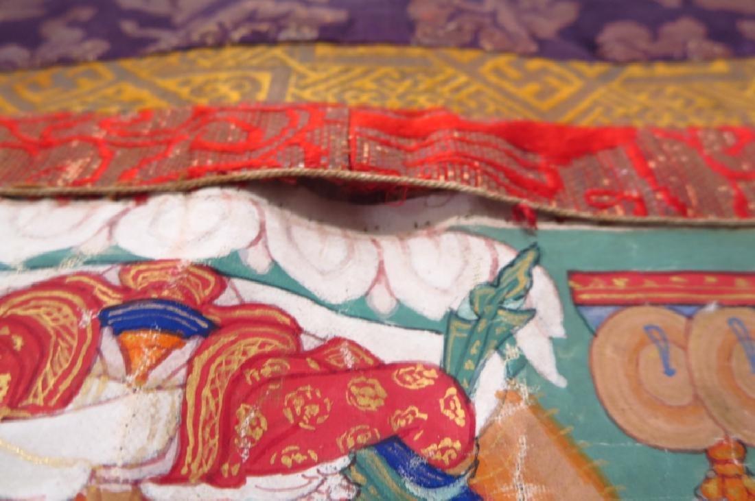 Tibetan Thanka Red Buddha Tempera & Gilt 20th c. - 7