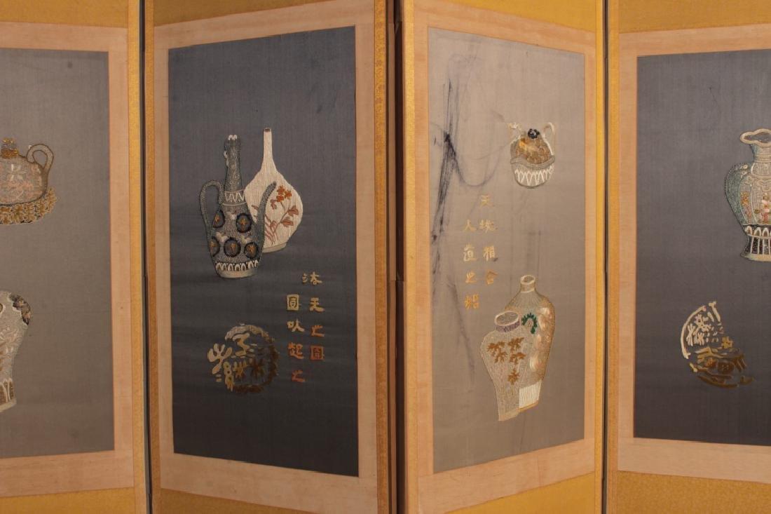 Contemporary Korean Folk 6 Panel Screen - 2