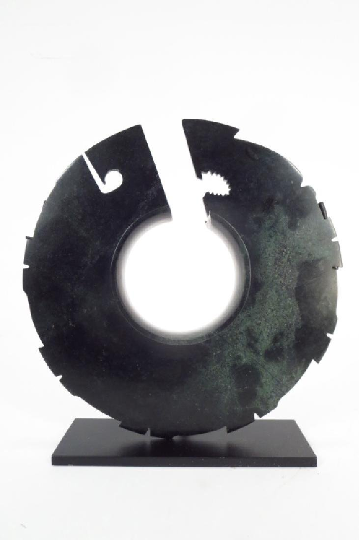 Chinese Jade Collared Disc, Shang Dyn.1600-1100 BC