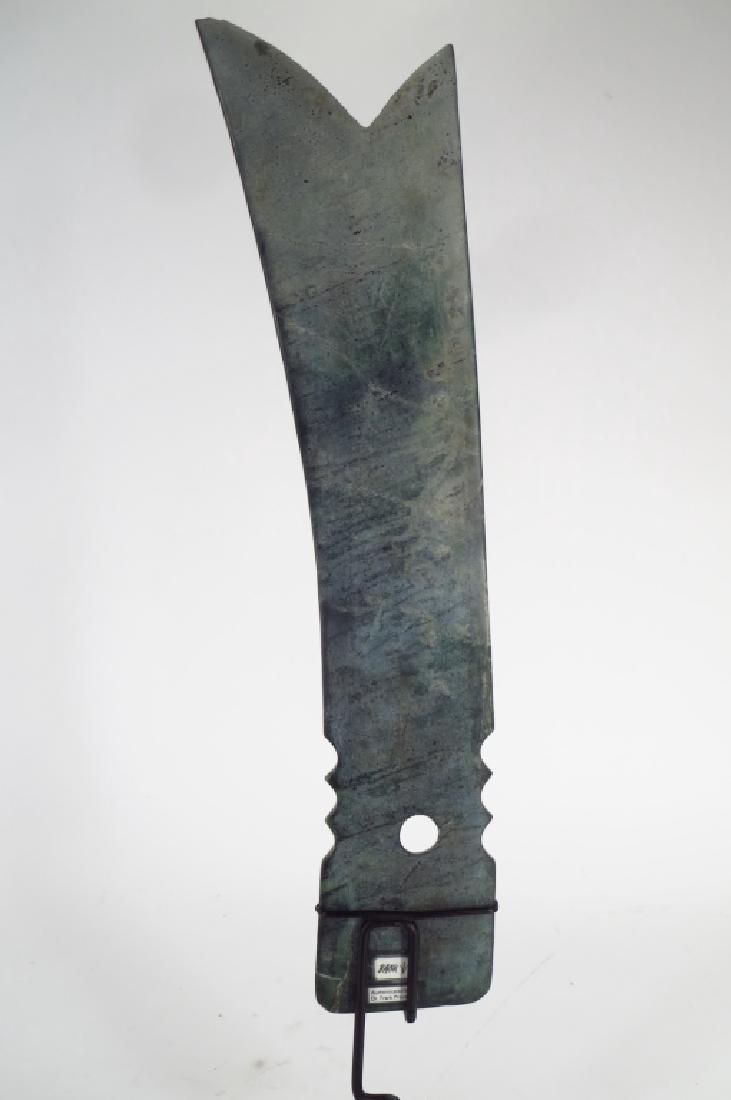Archaic Chinese Jade Zhang Blade, 2300-1700 BC - 3