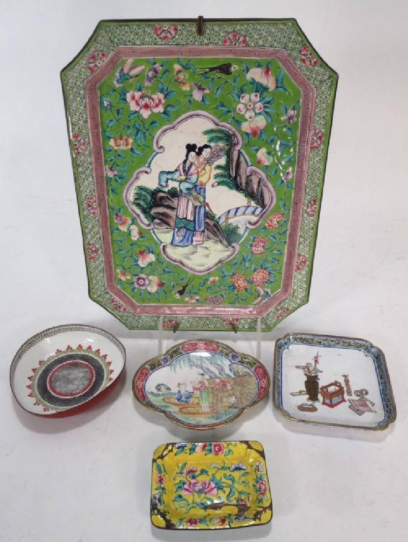 12 Asian Cloisonne & Peking Enamel Objects - 5