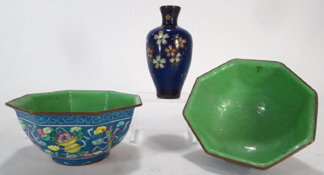 12 Asian Cloisonne & Peking Enamel Objects - 6
